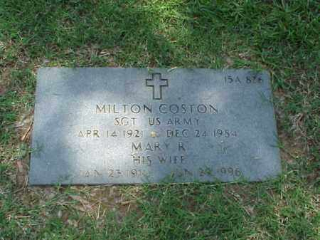 COSTON, MARY R - Pulaski County, Arkansas | MARY R COSTON - Arkansas Gravestone Photos