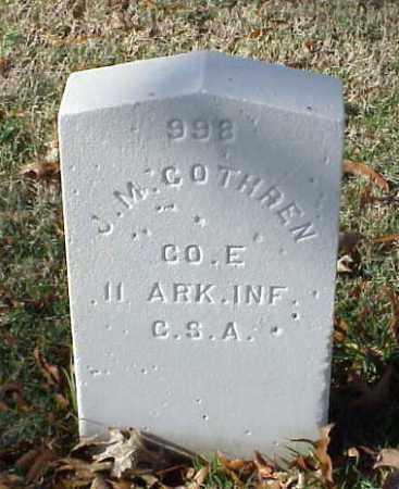 COTHREN (VETERAN CSA), J M - Pulaski County, Arkansas | J M COTHREN (VETERAN CSA) - Arkansas Gravestone Photos