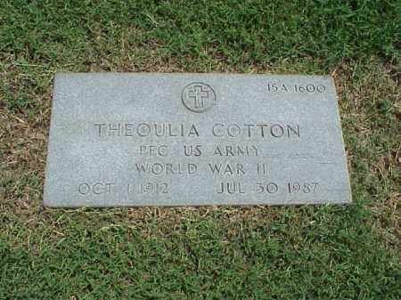 COTTON (VETERAN WWII), THEOULIA - Pulaski County, Arkansas | THEOULIA COTTON (VETERAN WWII) - Arkansas Gravestone Photos