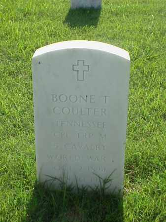COULTER (VETERAN WWI), BOONE T - Pulaski County, Arkansas | BOONE T COULTER (VETERAN WWI) - Arkansas Gravestone Photos