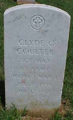 COULTER (VETERAN WWI), CLYDE C - Pulaski County, Arkansas   CLYDE C COULTER (VETERAN WWI) - Arkansas Gravestone Photos