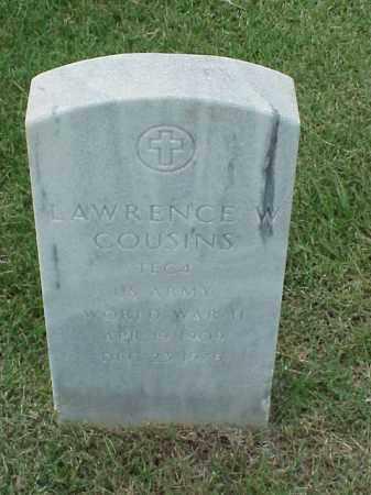 COUSINS (VETERAN WWII), LAWRENCE W - Pulaski County, Arkansas | LAWRENCE W COUSINS (VETERAN WWII) - Arkansas Gravestone Photos