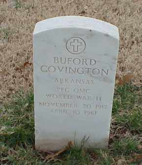 COVINGTON  (VETERAN WWII), BUFORD - Pulaski County, Arkansas | BUFORD COVINGTON  (VETERAN WWII) - Arkansas Gravestone Photos