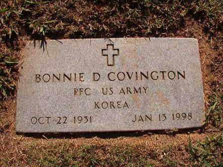 COVINGTON (VETERAN KOR), BONNIE D - Pulaski County, Arkansas | BONNIE D COVINGTON (VETERAN KOR) - Arkansas Gravestone Photos