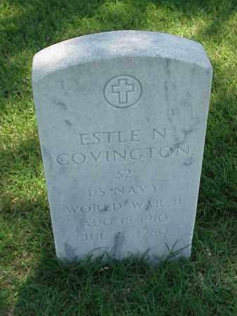 COVINGTON (VETERAN WWII), ESTLE N - Pulaski County, Arkansas   ESTLE N COVINGTON (VETERAN WWII) - Arkansas Gravestone Photos