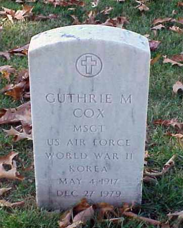 COX (VETERAN 2 WARS), GUTHRIE M - Pulaski County, Arkansas | GUTHRIE M COX (VETERAN 2 WARS) - Arkansas Gravestone Photos