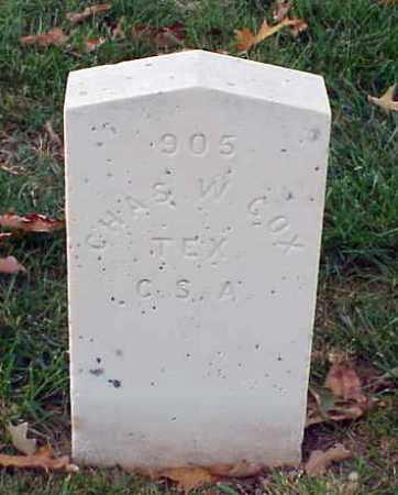 COX (VETERAN CSA), CHARLES W - Pulaski County, Arkansas   CHARLES W COX (VETERAN CSA) - Arkansas Gravestone Photos
