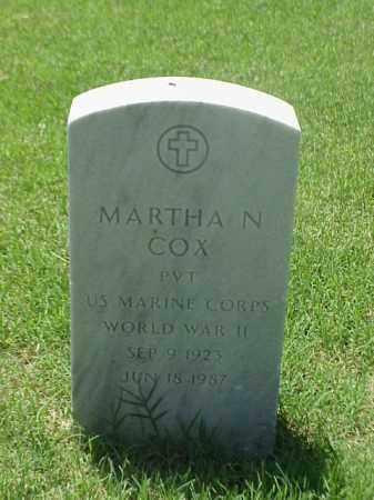 COX (VETERAN WWII), MARTHA N - Pulaski County, Arkansas   MARTHA N COX (VETERAN WWII) - Arkansas Gravestone Photos