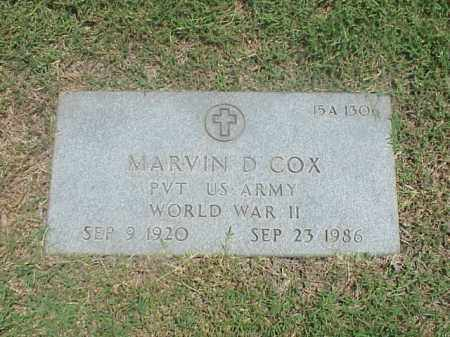 COX (VETERAN WWII), MARVIN D - Pulaski County, Arkansas | MARVIN D COX (VETERAN WWII) - Arkansas Gravestone Photos