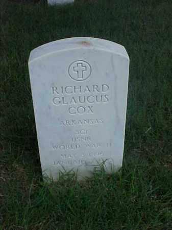 COX (VETERAN WWII), RICHARD GLAUCUS - Pulaski County, Arkansas   RICHARD GLAUCUS COX (VETERAN WWII) - Arkansas Gravestone Photos