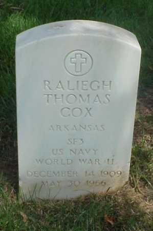 COX (VETERAN WWII), RALIEGH THOMAS - Pulaski County, Arkansas | RALIEGH THOMAS COX (VETERAN WWII) - Arkansas Gravestone Photos