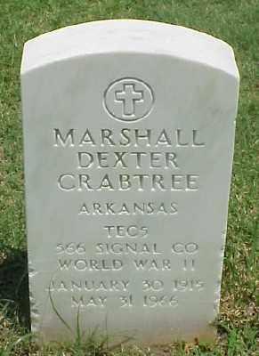 CRABTREE (VETERAN WWII), MARSHALL DEXTER - Pulaski County, Arkansas | MARSHALL DEXTER CRABTREE (VETERAN WWII) - Arkansas Gravestone Photos
