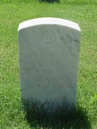 CRAE (VETERAN WWII), FRANK M - Pulaski County, Arkansas   FRANK M CRAE (VETERAN WWII) - Arkansas Gravestone Photos