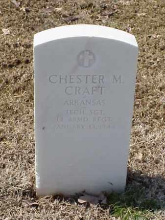CRAFT (VETERAN WWII), CHESTER M - Pulaski County, Arkansas   CHESTER M CRAFT (VETERAN WWII) - Arkansas Gravestone Photos