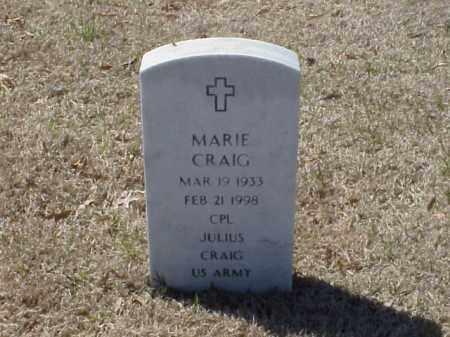 CRAIG, MARIE - Pulaski County, Arkansas | MARIE CRAIG - Arkansas Gravestone Photos