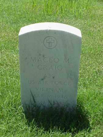 CRAIG (VETERAN VIET), MACEO M - Pulaski County, Arkansas   MACEO M CRAIG (VETERAN VIET) - Arkansas Gravestone Photos
