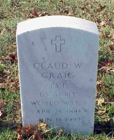 CRAIG (VETERAN WWI), CLAUD W - Pulaski County, Arkansas   CLAUD W CRAIG (VETERAN WWI) - Arkansas Gravestone Photos