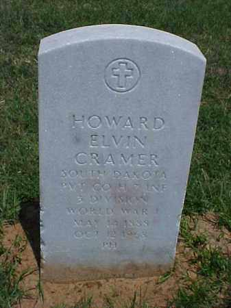 CRAMER (VETERAN WWI), HOWARD ELVIN - Pulaski County, Arkansas | HOWARD ELVIN CRAMER (VETERAN WWI) - Arkansas Gravestone Photos