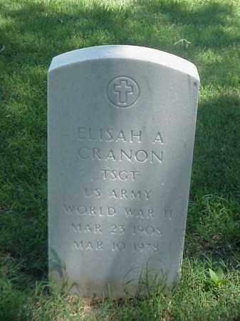 CRANON (VETERAN WWII), ELISAH A - Pulaski County, Arkansas | ELISAH A CRANON (VETERAN WWII) - Arkansas Gravestone Photos