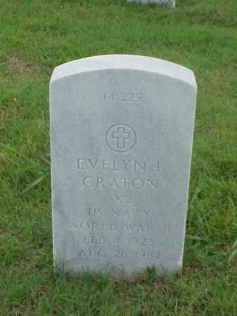 CRATON (VETERAN WWII), EVELYN L - Pulaski County, Arkansas   EVELYN L CRATON (VETERAN WWII) - Arkansas Gravestone Photos