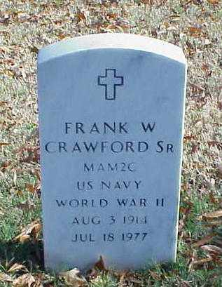 CRAWFORD, SR (VETERAN WWII), FRANK W - Pulaski County, Arkansas | FRANK W CRAWFORD, SR (VETERAN WWII) - Arkansas Gravestone Photos