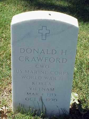 CRAWFORD (VETERAN 3 WARS), DONALD H - Pulaski County, Arkansas   DONALD H CRAWFORD (VETERAN 3 WARS) - Arkansas Gravestone Photos