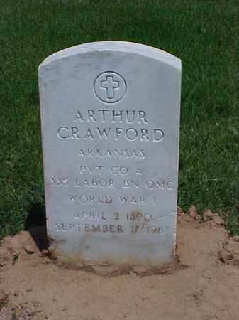 CRAWFORD (VETERAN WWI), ARTHUR - Pulaski County, Arkansas | ARTHUR CRAWFORD (VETERAN WWI) - Arkansas Gravestone Photos