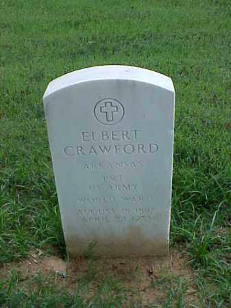 CRAWFORD (VETERAN WWI), ELBERT - Pulaski County, Arkansas | ELBERT CRAWFORD (VETERAN WWI) - Arkansas Gravestone Photos