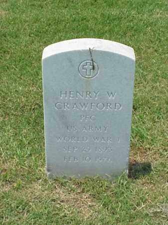 CRAWFORD (VETERAN WWI), HENRY W - Pulaski County, Arkansas | HENRY W CRAWFORD (VETERAN WWI) - Arkansas Gravestone Photos