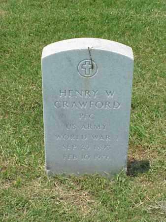 CRAWFORD (VETERAN WWI), HENRY W - Pulaski County, Arkansas   HENRY W CRAWFORD (VETERAN WWI) - Arkansas Gravestone Photos