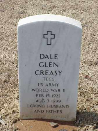 CREASY  (VETERAN WWII), DALE GLEN - Pulaski County, Arkansas | DALE GLEN CREASY  (VETERAN WWII) - Arkansas Gravestone Photos