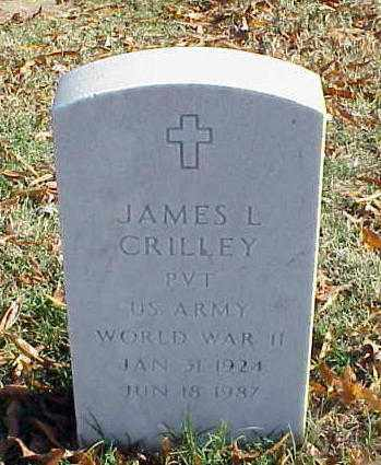 CRILLEY (VETERAN WWII), JAMES L - Pulaski County, Arkansas | JAMES L CRILLEY (VETERAN WWII) - Arkansas Gravestone Photos