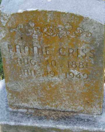 CRISS, FANNIE - Pulaski County, Arkansas   FANNIE CRISS - Arkansas Gravestone Photos