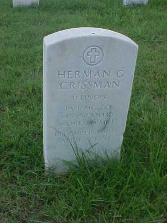 CRISSMAN (VETERAN WWI), HERMAN GLADSTONE - Pulaski County, Arkansas | HERMAN GLADSTONE CRISSMAN (VETERAN WWI) - Arkansas Gravestone Photos