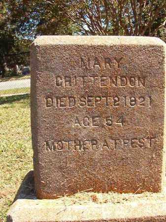 CRITTENDON, MARY - Pulaski County, Arkansas | MARY CRITTENDON - Arkansas Gravestone Photos