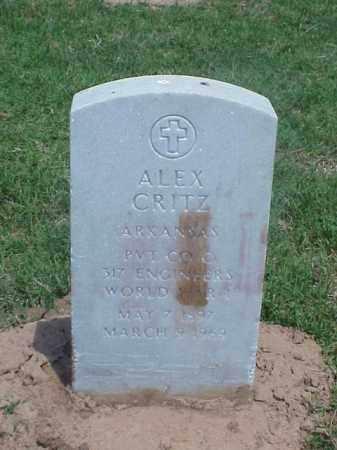 CRITZ (VETERAN WWI), ALEX - Pulaski County, Arkansas   ALEX CRITZ (VETERAN WWI) - Arkansas Gravestone Photos