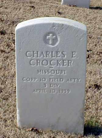 CROCKER (VETERAN WWI), CHARLES E - Pulaski County, Arkansas | CHARLES E CROCKER (VETERAN WWI) - Arkansas Gravestone Photos