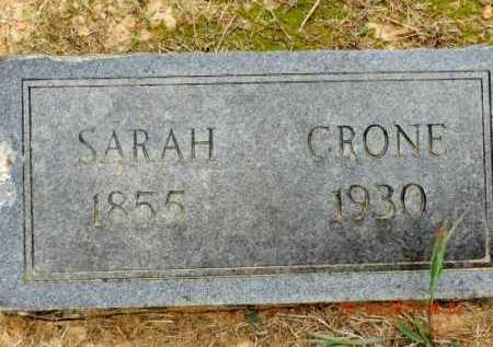 CRONE, SARAH - Pulaski County, Arkansas   SARAH CRONE - Arkansas Gravestone Photos