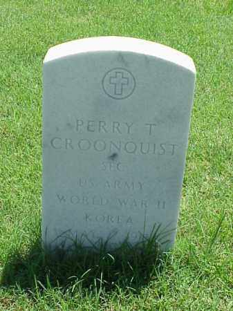CROONQUIST (VETERAN 2 WARS), PERRY T - Pulaski County, Arkansas | PERRY T CROONQUIST (VETERAN 2 WARS) - Arkansas Gravestone Photos