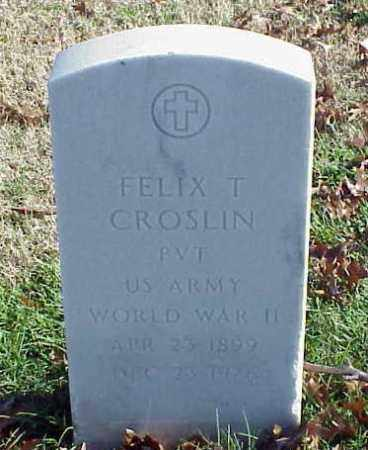 CROSLIN (VETERAN WWII), FELIX T - Pulaski County, Arkansas | FELIX T CROSLIN (VETERAN WWII) - Arkansas Gravestone Photos