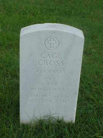 CROSS (VETERAN WWI), CAGE - Pulaski County, Arkansas | CAGE CROSS (VETERAN WWI) - Arkansas Gravestone Photos