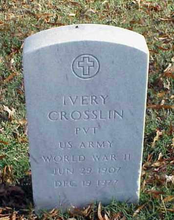 CROSSLIN (VETERAN WWII), IVERY - Pulaski County, Arkansas   IVERY CROSSLIN (VETERAN WWII) - Arkansas Gravestone Photos