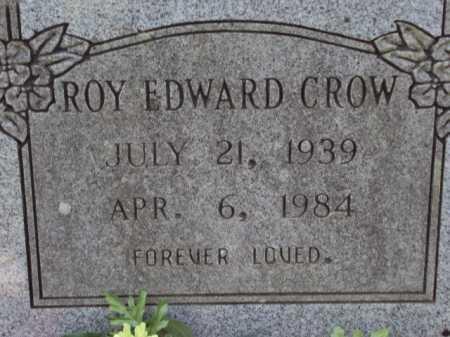 CROW, ROY EDWARD - Pulaski County, Arkansas   ROY EDWARD CROW - Arkansas Gravestone Photos