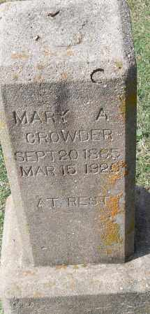 CROWDER, MARY A - Pulaski County, Arkansas | MARY A CROWDER - Arkansas Gravestone Photos