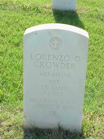CROWDER (VETERAN KOR), LORENZO D - Pulaski County, Arkansas | LORENZO D CROWDER (VETERAN KOR) - Arkansas Gravestone Photos