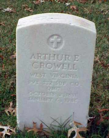 CROWELL (VETERAN WWI), ARTHUR E - Pulaski County, Arkansas | ARTHUR E CROWELL (VETERAN WWI) - Arkansas Gravestone Photos