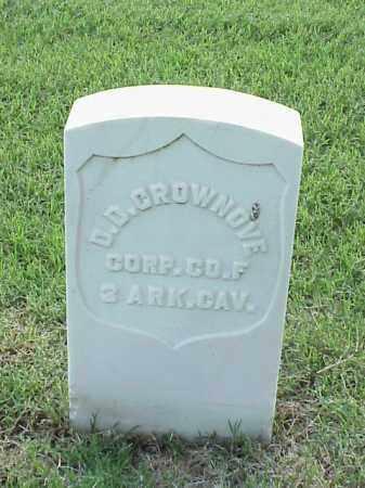 CROWNOVE (VETERAN UNION), D D - Pulaski County, Arkansas | D D CROWNOVE (VETERAN UNION) - Arkansas Gravestone Photos