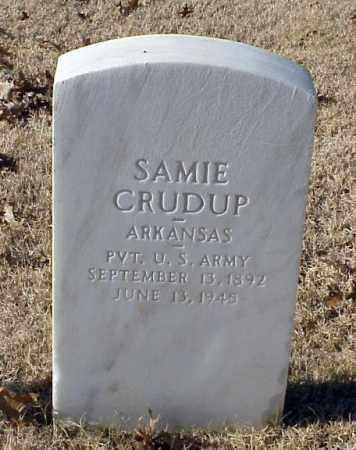 CRUDUP (VETERAN WWI), SAMIE - Pulaski County, Arkansas   SAMIE CRUDUP (VETERAN WWI) - Arkansas Gravestone Photos