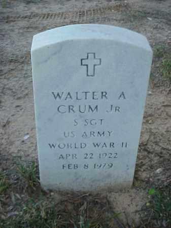 CRUM, JR (VETERAN WWII), WALTER A - Pulaski County, Arkansas | WALTER A CRUM, JR (VETERAN WWII) - Arkansas Gravestone Photos