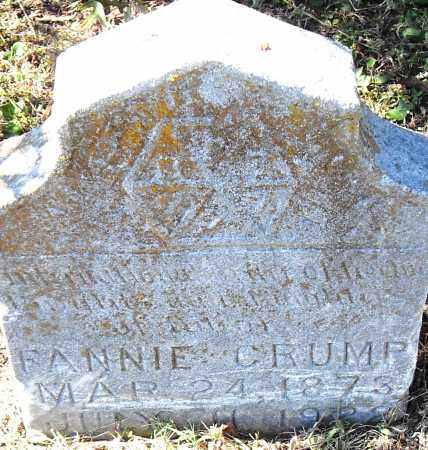 CRUMP, FANNIE - Pulaski County, Arkansas | FANNIE CRUMP - Arkansas Gravestone Photos